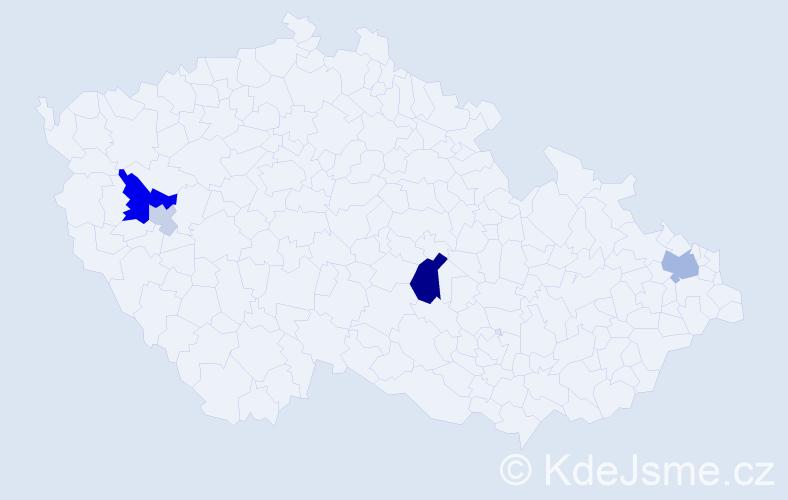 Příjmení: 'Holéczyová', počet výskytů 12 v celé ČR