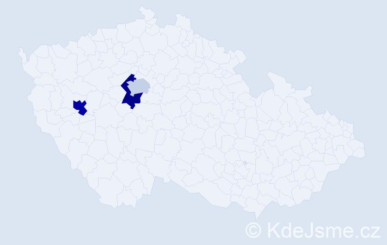 Příjmení: 'Lanzendorf', počet výskytů 9 v celé ČR