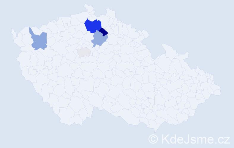 Příjmení: 'Eberhalt', počet výskytů 7 v celé ČR