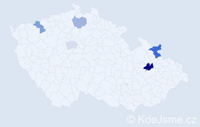 Příjmení: 'Halušic', počet výskytů 9 v celé ČR