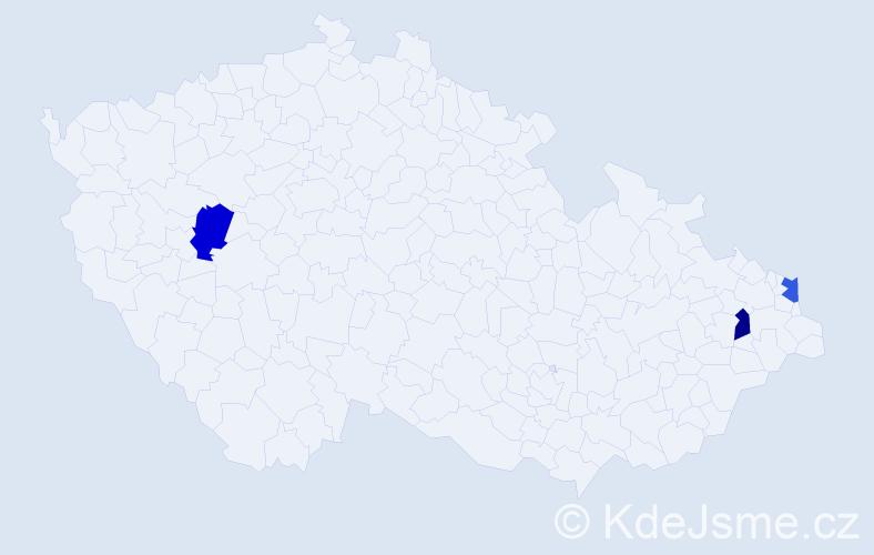 Příjmení: 'Janoschec', počet výskytů 6 v celé ČR