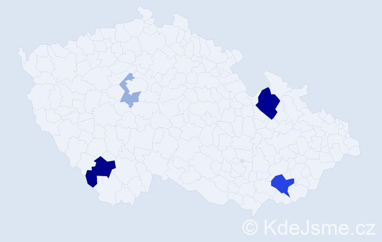 Příjmení: 'Gaťáková', počet výskytů 10 v celé ČR