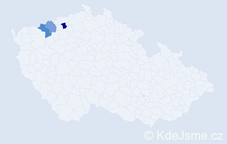 Příjmení: 'Frandoferová', počet výskytů 3 v celé ČR