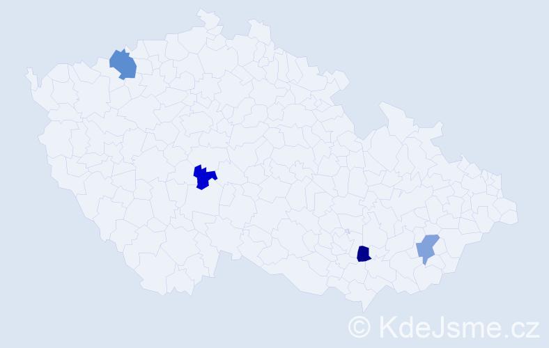 Příjmení: 'Kolumber', počet výskytů 8 v celé ČR