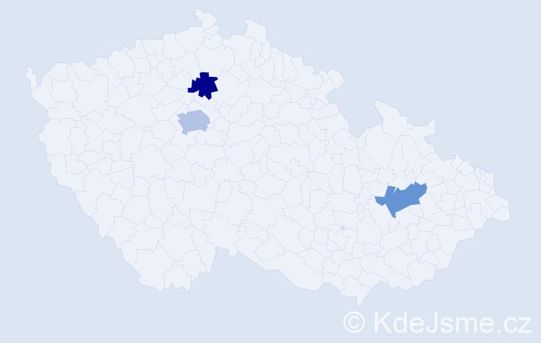 Příjmení: 'Dobrovolskij', počet výskytů 4 v celé ČR