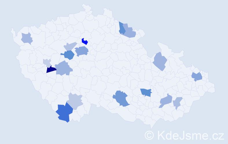 Příjmení: 'Gonzálezová', počet výskytů 38 v celé ČR