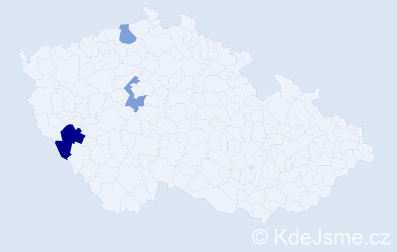 Příjmení: 'Imrichovičová', počet výskytů 4 v celé ČR