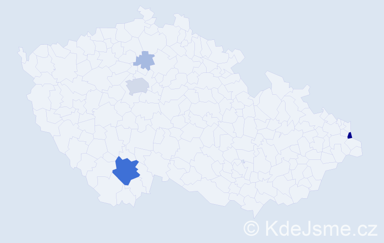 Příjmení: 'Billich', počet výskytů 20 v celé ČR