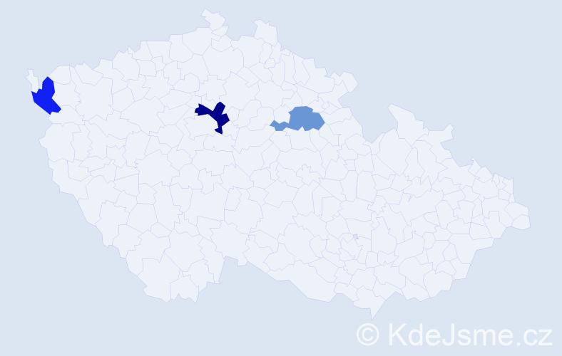 Příjmení: 'Hutchinsonová', počet výskytů 4 v celé ČR
