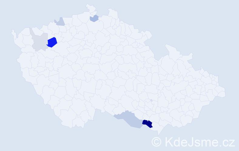 Příjmení: 'August', počet výskytů 13 v celé ČR