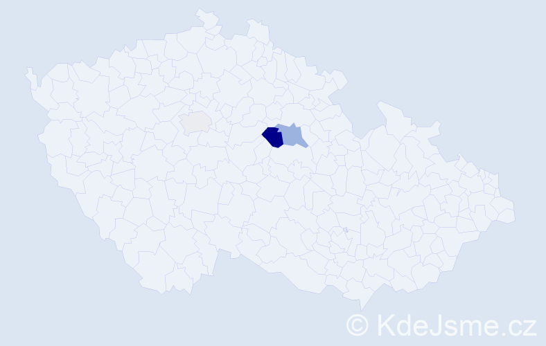 Příjmení: 'Aisová', počet výskytů 6 v celé ČR