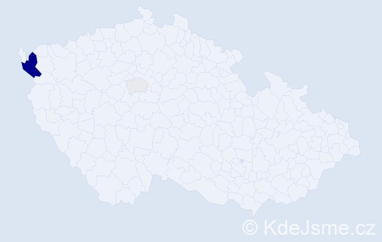Příjmení: 'Barthellová', počet výskytů 5 v celé ČR