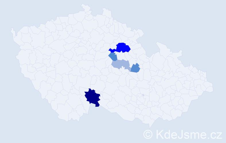 Příjmení: 'Andrusiv', počet výskytů 14 v celé ČR