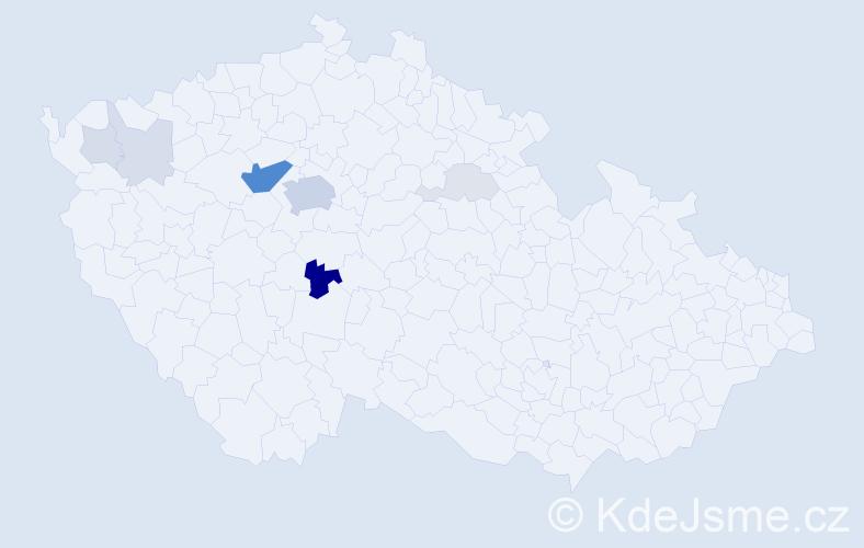 Příjmení: 'Feřtek', počet výskytů 31 v celé ČR