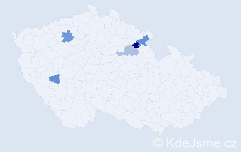 Příjmení: 'Lazarik', počet výskytů 16 v celé ČR