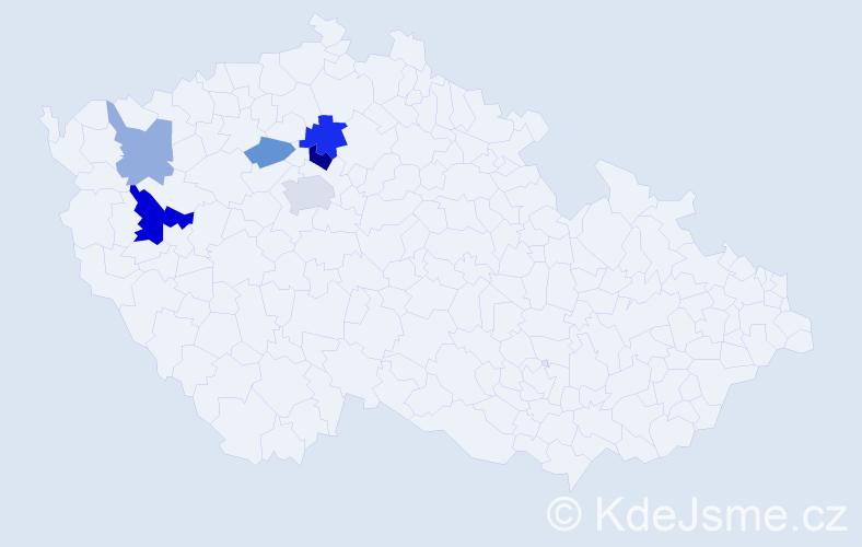 Příjmení: 'Kasýk', počet výskytů 11 v celé ČR