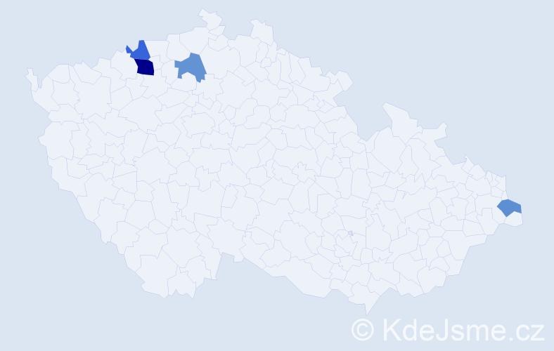 Příjmení: 'Bertlík', počet výskytů 6 v celé ČR