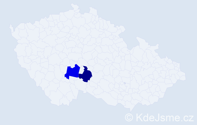Příjmení: 'Kobaníková', počet výskytů 7 v celé ČR