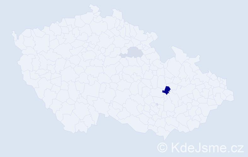 Příjmení: 'Gyurkovská', počet výskytů 3 v celé ČR