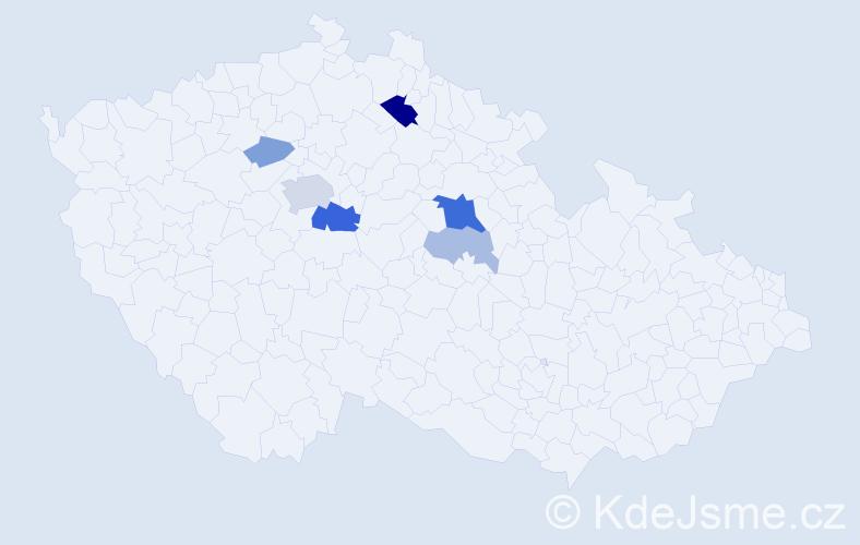 Příjmení: 'Ardelt', počet výskytů 17 v celé ČR