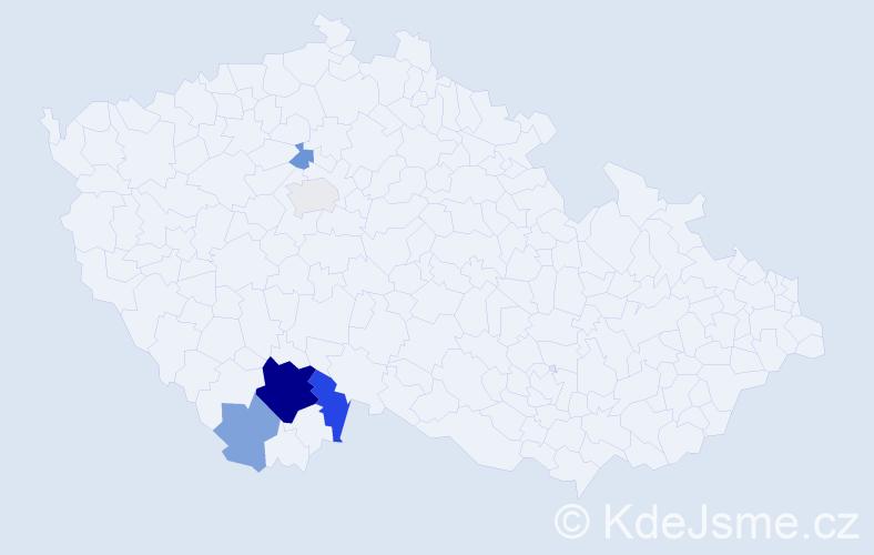 Příjmení: 'Berit', počet výskytů 29 v celé ČR