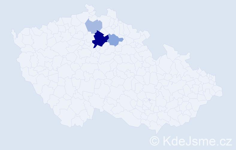 Příjmení: 'Čakrda', počet výskytů 20 v celé ČR