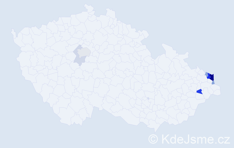 Příjmení: 'Babczynski', počet výskytů 24 v celé ČR