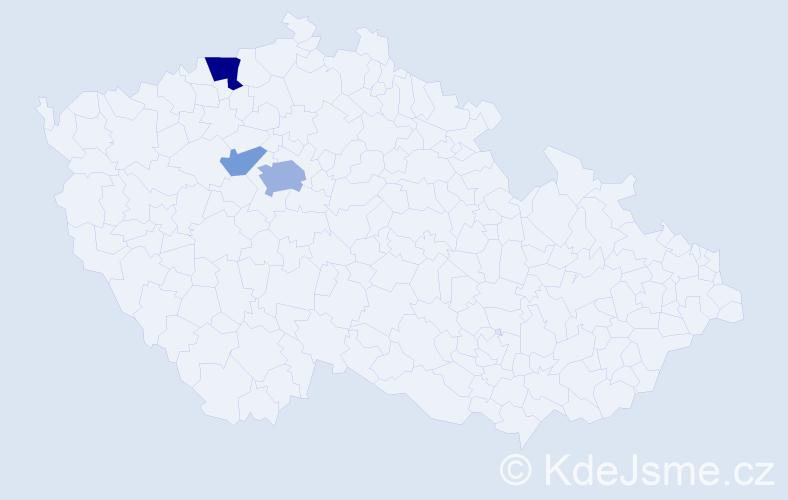 Příjmení: 'Kautznerová', počet výskytů 8 v celé ČR