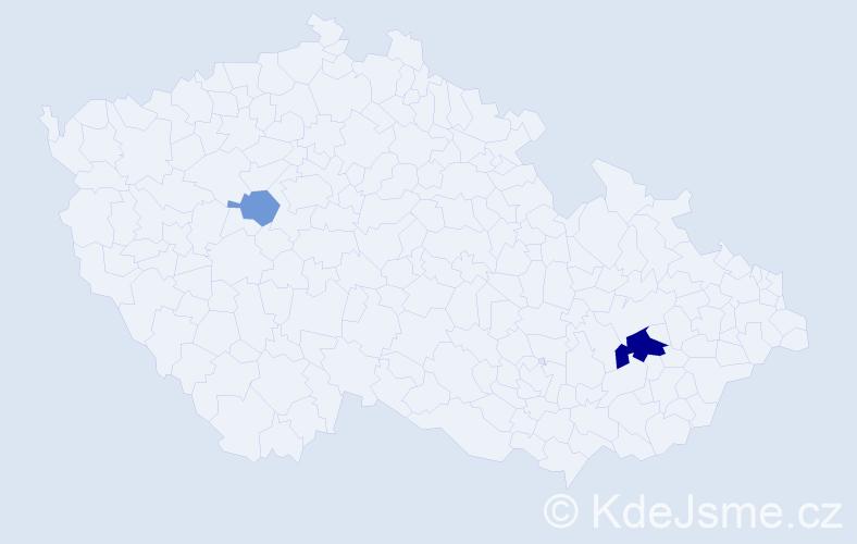 Příjmení: 'Balenčin', počet výskytů 5 v celé ČR