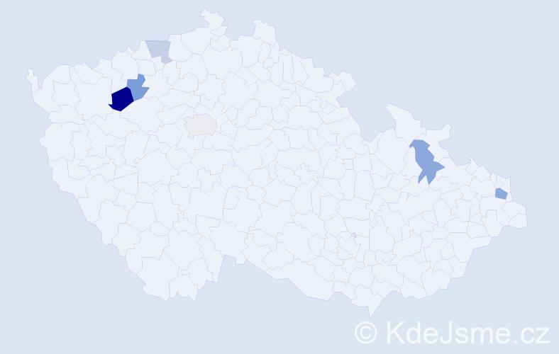 Příjmení: 'Jaremčuková', počet výskytů 16 v celé ČR