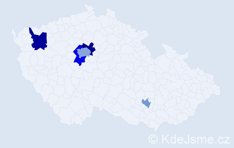 Příjmení: 'Eliseev', počet výskytů 6 v celé ČR