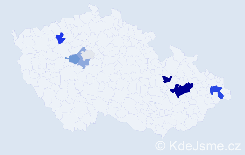 Příjmení: 'Hejnar', počet výskytů 14 v celé ČR
