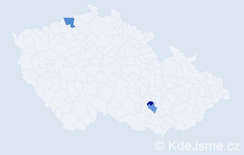 Příjmení: 'Drahuta', počet výskytů 7 v celé ČR