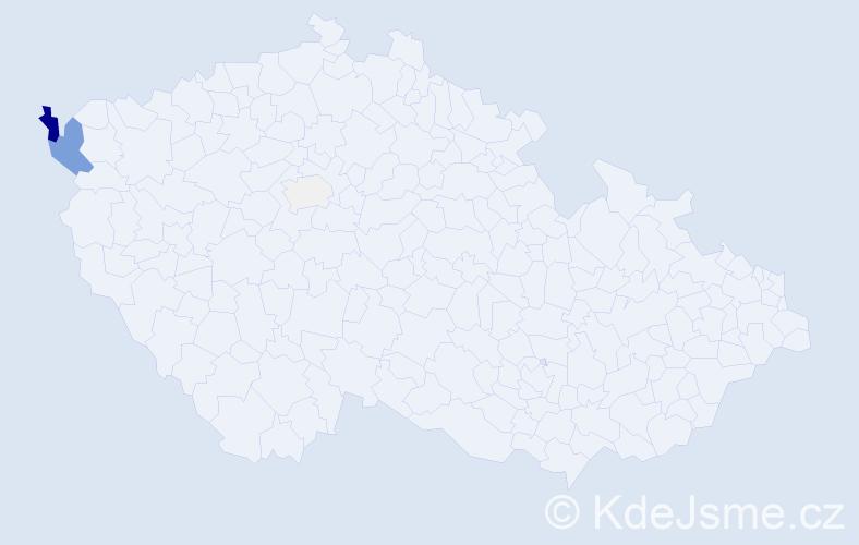 Příjmení: 'Elizeus', počet výskytů 12 v celé ČR