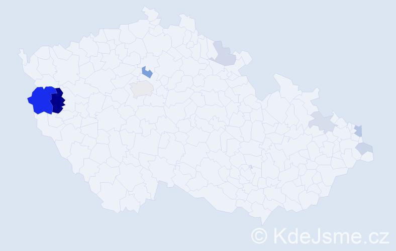 Příjmení: 'Hreusová', počet výskytů 20 v celé ČR