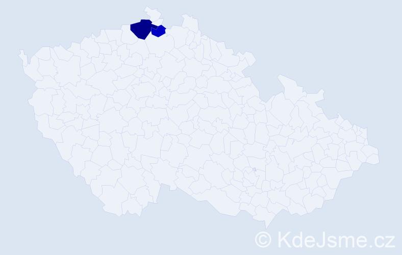 Příjmení: 'Diriglová', počet výskytů 4 v celé ČR