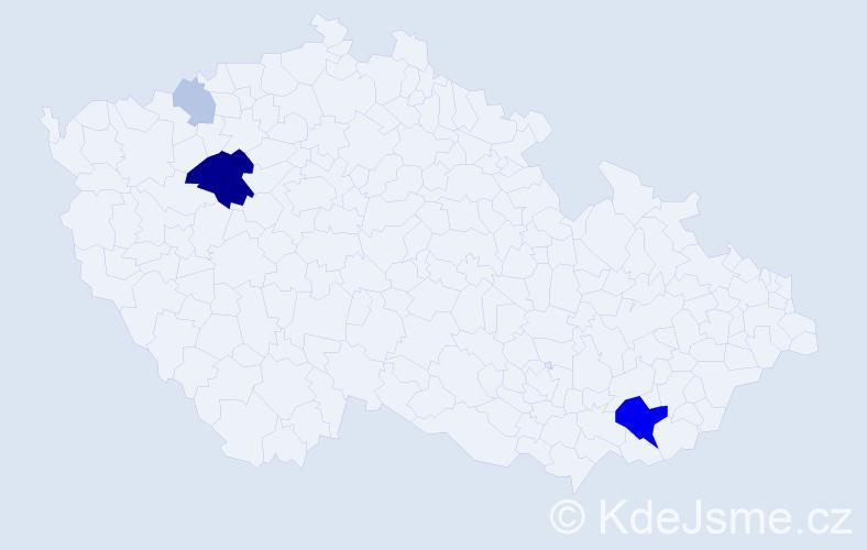 Příjmení: 'Jurovich', počet výskytů 14 v celé ČR