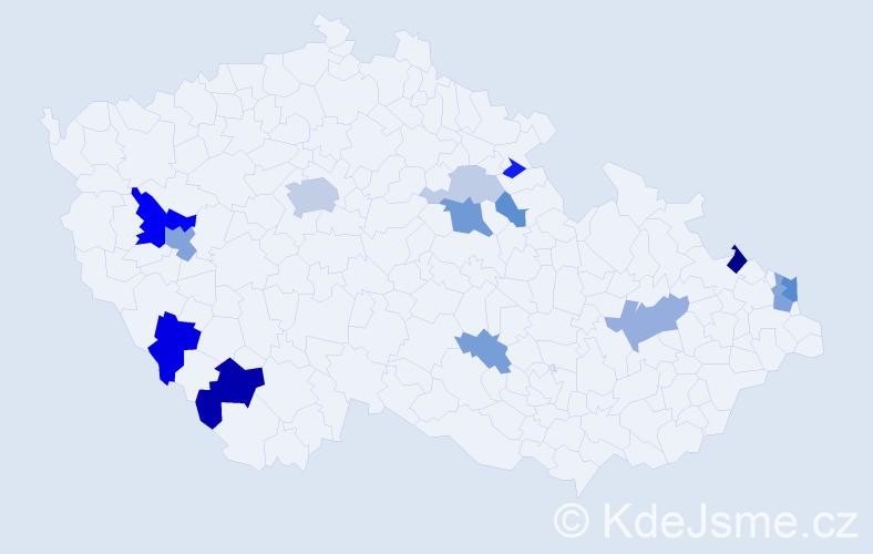Příjmení: 'Brunovský', počet výskytů 35 v celé ČR