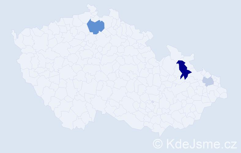 Příjmení: 'Herpai', počet výskytů 9 v celé ČR
