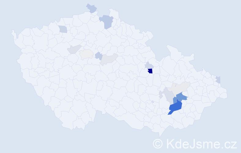 Příjmení: 'Gremlica', počet výskytů 67 v celé ČR