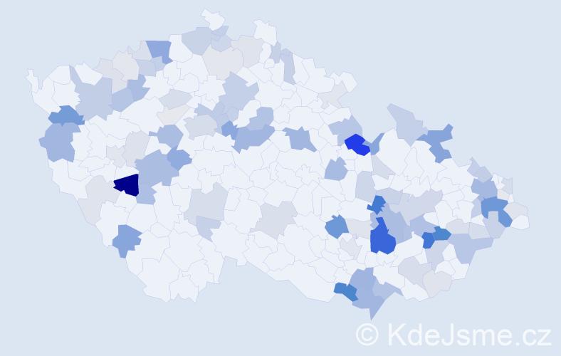Příjmení: 'Gregušová', počet výskytů 266 v celé ČR