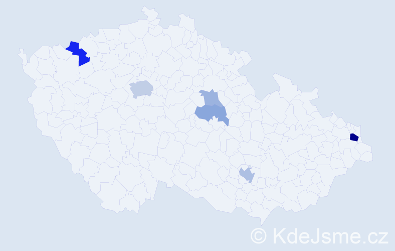 Příjmení: 'Bíziková', počet výskytů 15 v celé ČR
