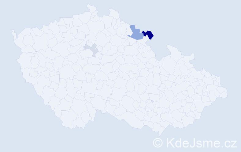 Příjmení: 'Kerestešiová', počet výskytů 8 v celé ČR