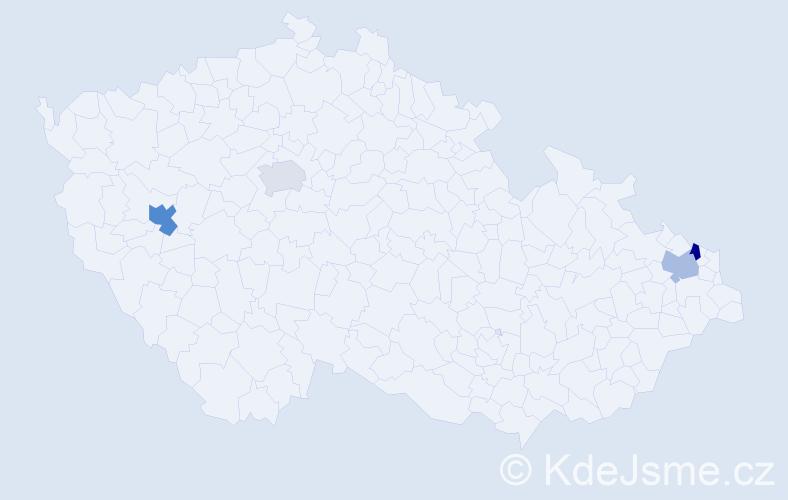 Příjmení: 'Köllerová', počet výskytů 5 v celé ČR
