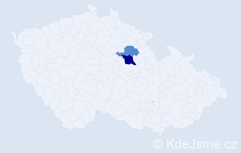 Příjmení: 'Feuermannová', počet výskytů 3 v celé ČR