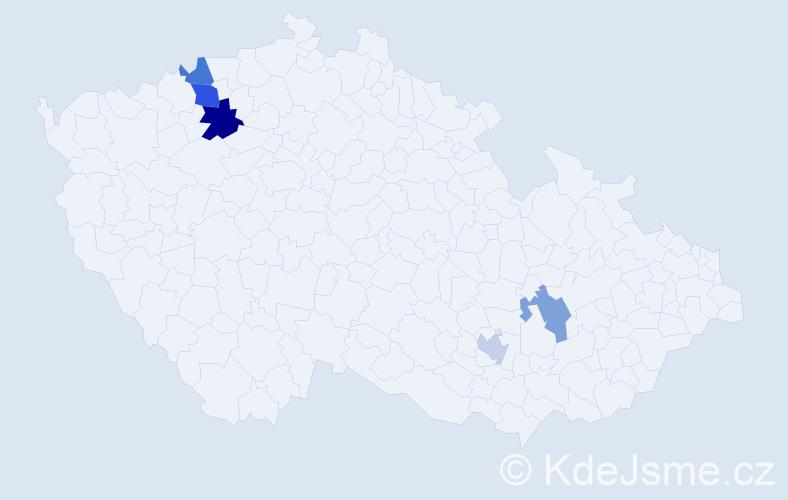Příjmení: 'Abelesová', počet výskytů 7 v celé ČR