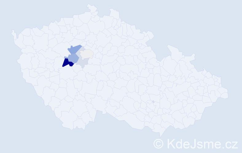Příjmení: 'Eichenmann', počet výskytů 14 v celé ČR