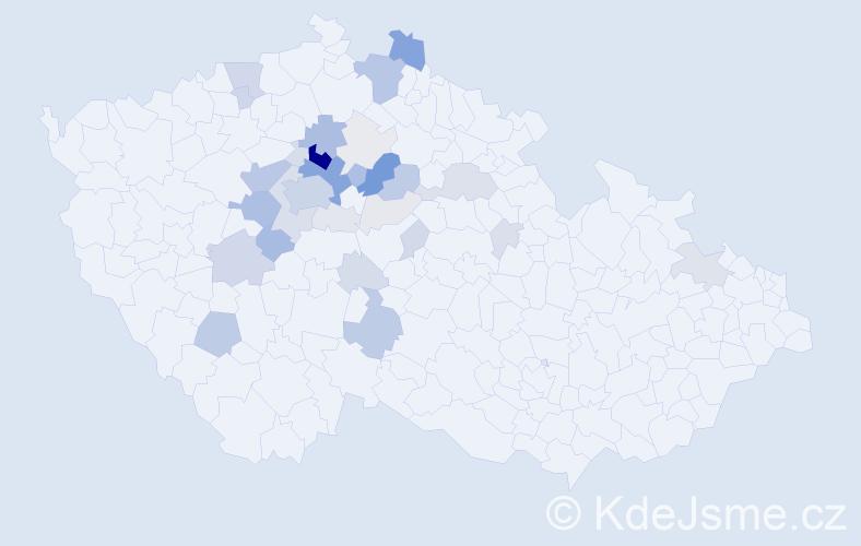 Příjmení: 'Čemusová', počet výskytů 137 v celé ČR
