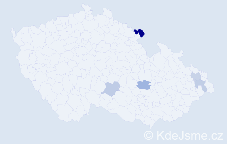 Příjmení: 'Čarnoká', počet výskytů 7 v celé ČR