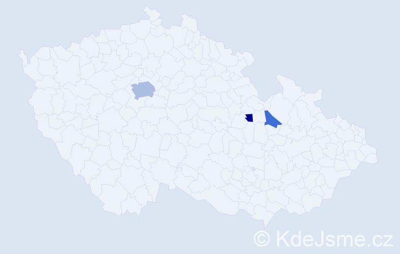 Příjmení: 'Čašková', počet výskytů 7 v celé ČR